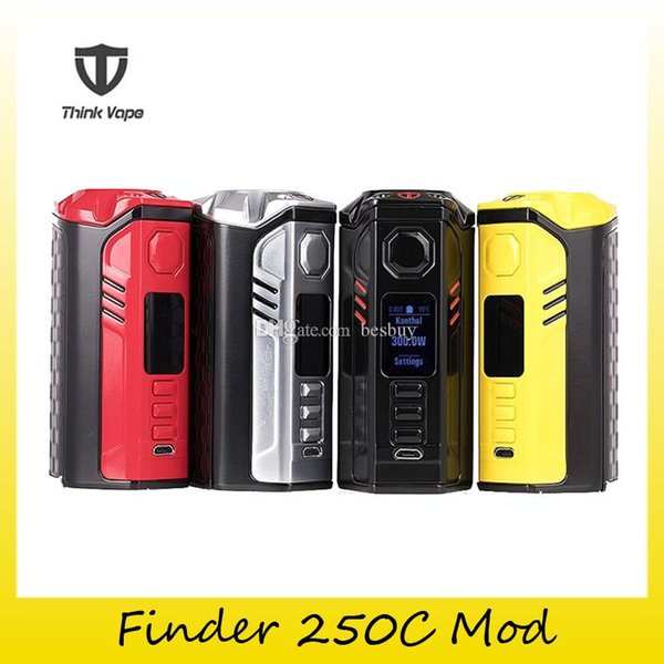 Authentic Think Vape Finder 250C Box Mod 3x 18650 Battery DNA 250C ThinkVape 250W Mod For Original 510 Thread Tank 100% Genuine 2256008
