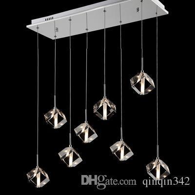 Lâmpada de cristal LED pendurado decoração restaurante lâmpadas bar sala de jantar sombra da lâmpada personalidade criativa simples lâmpada pós-moderna