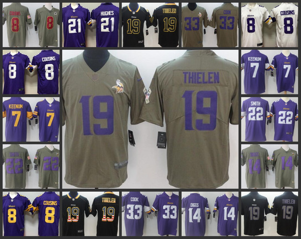 sale retailer 26a1c 16806 2018 Minnesota Vikings Embroidery Men Jersey #7 Daniel Carlson 8 Kirk  Cousins 14 Stefon Diggs 19 Adam Thielen Women Youth Football Jerseys From  ...