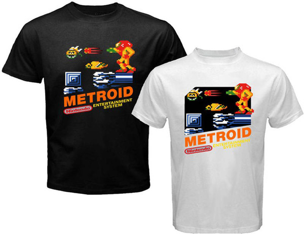 2018 Summer Brand Clothing Funny Short Sleeve Mens Metroid T Shirt