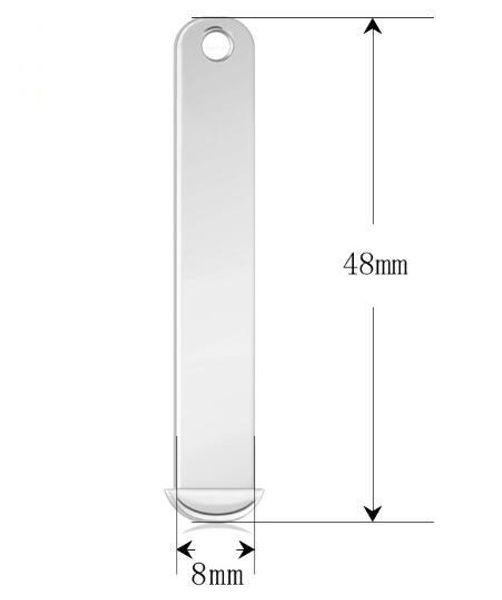 Commercio all'ingrosso 50 Pz / lotto 8 MM Diapositiva Bar Charms Accessori In Lega DIY Misura Per 8mm Lettere Collana Fare