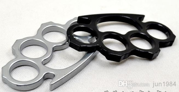 Fitness Supplies Silver Gold and Black Thin Steel Brass knuckle dusters Self defence Gear