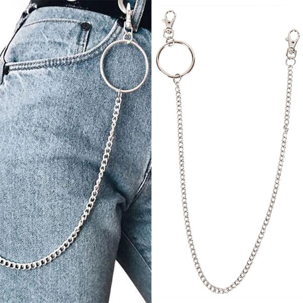 65cm Long Rock Punk Trousers Hipster Key Chains Street Big Ring Key Chain Pant Jean Keychain HipHop Pop Accessories