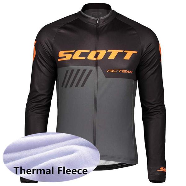 Popüler satış SCOTT ekibi erkekler Bisiklet Kış Termal Polar jersey fermuar Rahat Giymek dayanıklı Bisiklet ekipmanları Giysileri 61006