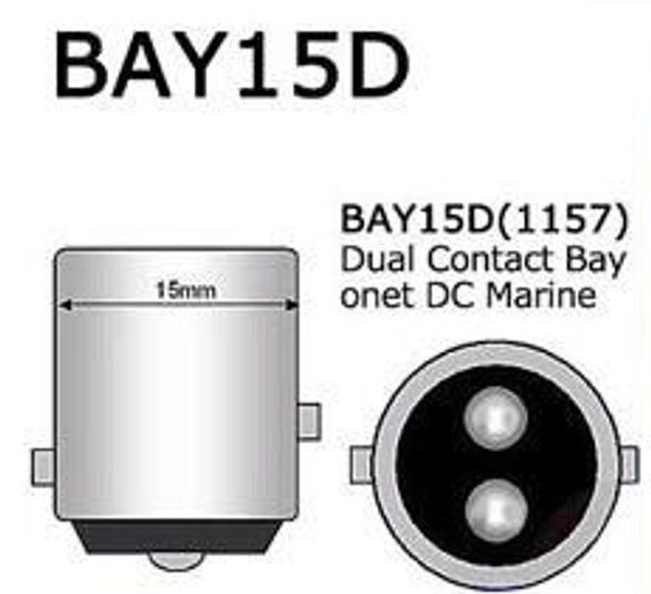 BAY15D P21 / 5W 1157 12V 레드