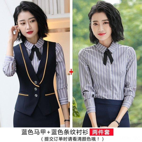 camisa listrada + azul azul colete