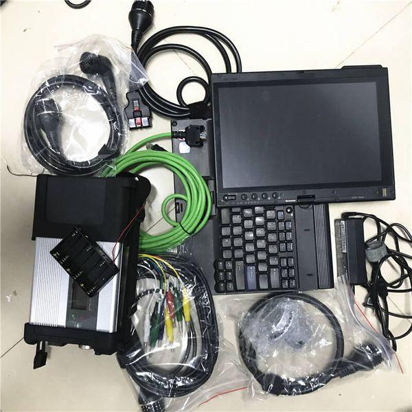 Super MB SD C5 outil de diagnostic avec un ordinateur portable installé X201t dernière de soft ware 2019.09V pour scanner c5 mb étoiles ensemble complet prêt à l'emploi