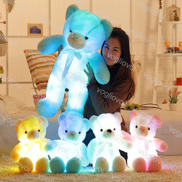 Illuminazione Farcito Orso Teddy Bear Bambola Peluche Ripiene Giocattoli 30 CM 50 CM Regalo Orso Per Bambini Regalo Di Natale Peluche Ripiene Giocattolo DHL