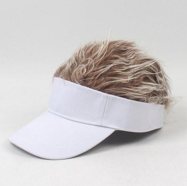 kids white hat coffee wig