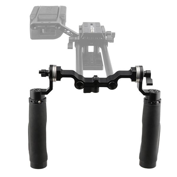 Freeshipping Camera Shoulder Support 15MM Rod Clamp Camera Handle Black Leather Grip For ARRI Rosette DSLR Fotografica Kit C1471