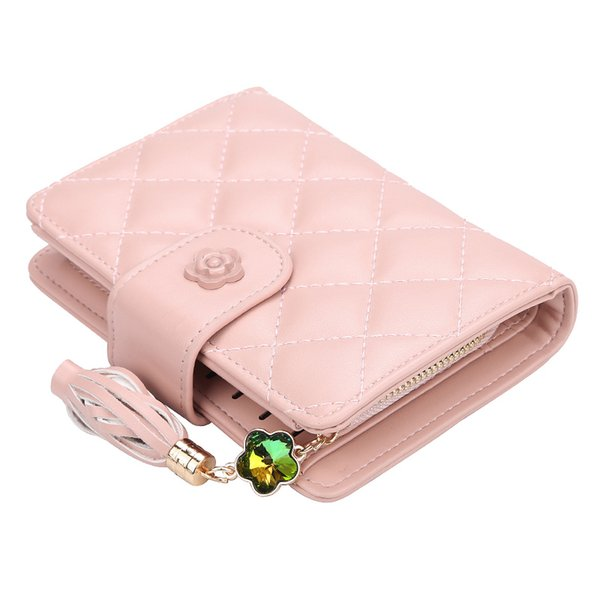 Women Wallet Hasp Purse Zipper Coin Pocket Wallet Leather Women Wallets Female Money Bag Fashion Grid Small Card Holder