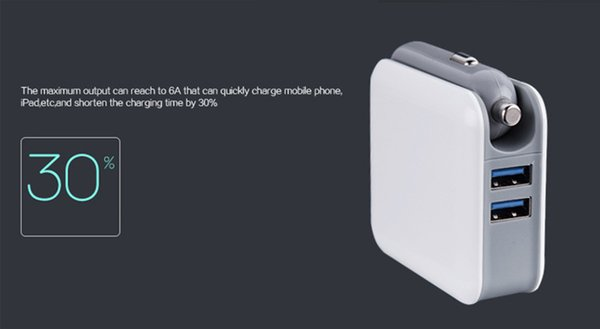 New Design 2in1 Compact Wall Charger Car Converter Dual USB Port 5V 2.1A Fast Charging Folding Home Travel Charger AC / DC Power Adapter
