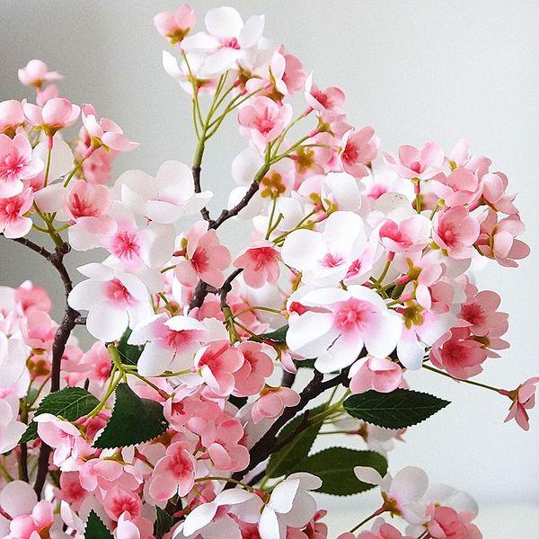 Long Stem Apple Tree Branch Artificial Rose Flowers Silk+plastic Flores For Autumn Home Wedding Decorations Christmas Decor