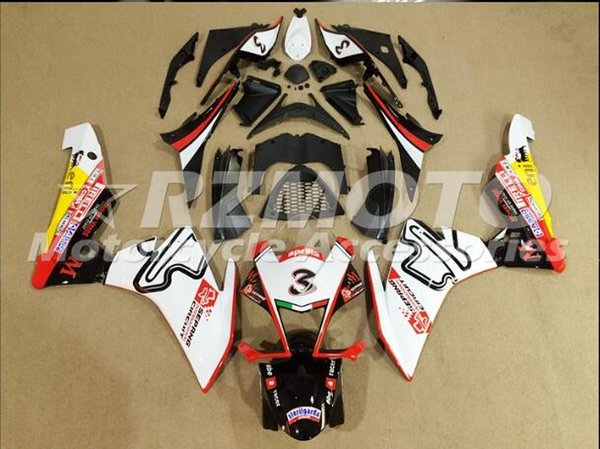 3Gifts High quality New ABS motorcycle fairings fit for Aprilia RSV4 1000 2010-2015 RSV4 10 11 12 13 14 15 Fairings set custom black white
