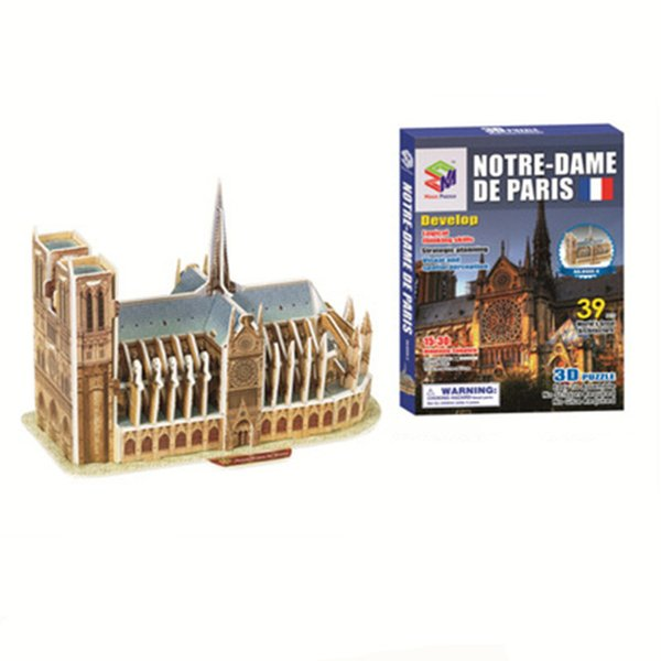 Notre Dame DE Paris Princess Castle Puzzle for Kids Gifts 3D DIY Puzzle Jigsaw Baby Toy Kids Birthday Party Supplies Gift for Children