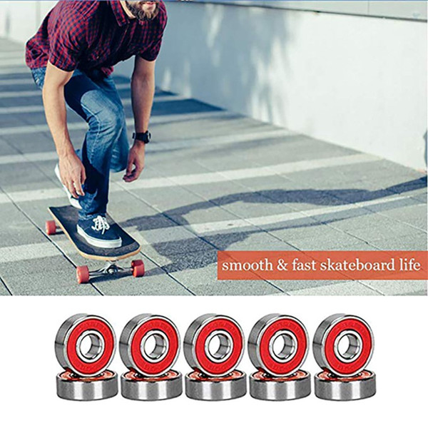 Nessun rumore Smooth motorino del pattino Cuscinetto Longboard velocità Roller blades cuscinetto ruota Mini Skateboard Skater motorino Cuscinetti