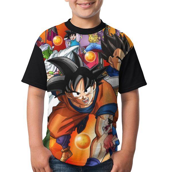 Pop Dragon Ball Z Shirts Super broly Goku Anime Master ps4 dragon ball Cartoon Casual Pullover Tops Short Sleeve For Boys