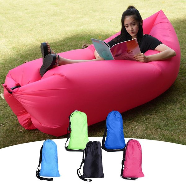 Portable Folding Sleeping Bag Waterproof Inflatable Bag Lazy Sofa Camping Sleeping Bags Air Bed Adult Beach Lounge Chair