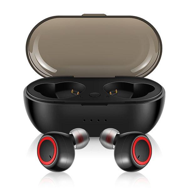 Mini Görünmez Dokunmatik Kulaklık Aramalar Kablosuz Kulaklık Bluetooth 5.0 TWS Mic Ile Iptal Kulaklık Gürültü iphone 8 XS android Spor