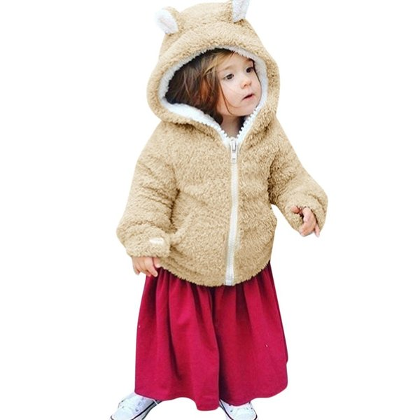 good quality Baby winter coat Boys Girls Clothes Long Sleeves Velvet Cartoon Hooded Coat Clothes Snowsuit meisjes winterjas jongen