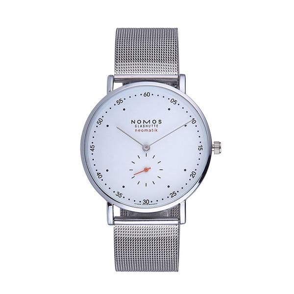Luxus-Stahlgitter NOMOS Quarz Liebhaber Uhren Frauen Männer Kleid Leder Kleid Armbanduhren Mode lässig Uhren