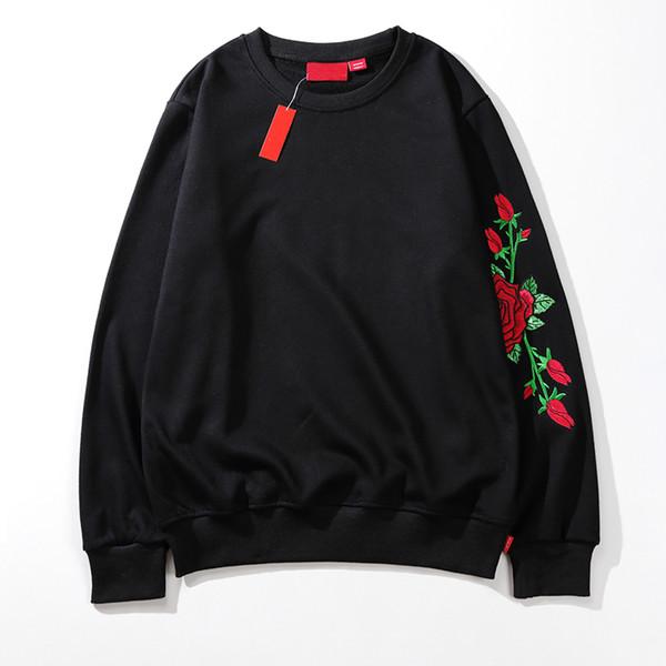 2019 noir blanc mode sweat concepteur marque hommes wemens rouge roses imprimé chemisier à manches longues sweatshirts haute qualité LSY982810