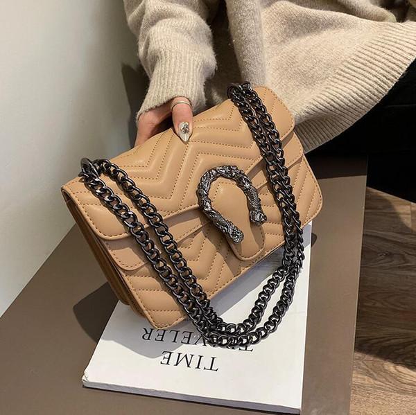 Factory wholesale brand new wave pattern women messenger bag classic diamond chain bag elegant atmosphere diamond leather shoulder bag
