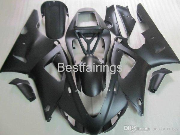 ZXMOTOR Free custom fairing kit for YAMAHA R1 1998 1999 all black fairings YZF R1 98 99 VV40