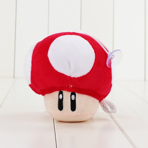 2 Sizes Super Mario Bros Toad Plush Toy Green Red Mushroom Stuffed Pendants With Sucker