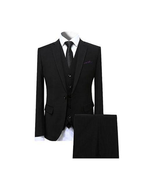 Fashion Custom Made Western Tuxedos Slim Fit Peaked Lapel Black Groom Suit Wedding Suit For Men/Prom Suit 3 Pieces(Jacket+Pants+Vest+Tie)
