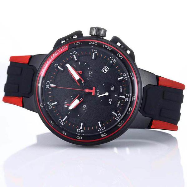 Luxury Brand T-Bike T111 T Bike PVD Rubber Teams Special Edition Chronograph Quartz Deployment Clasp Men Watch Wristwatches Mens Watches