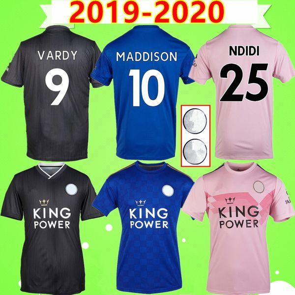 Leicester City soccer jersey # 9 VARDY 2019 2020 City Soccer Jersey 19 20 rosa blauschwarzes Fußballtrikot # 10 MADDISON Unterhemd # 3 CHILWELL # 7 GREY PEREIRA maillot