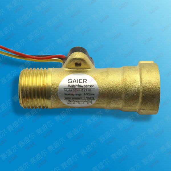 Water flow meter fuel gauge Hall sensor inductive switch counter iG1/2 DN15mm 1-30L/min DC4.5V-18V