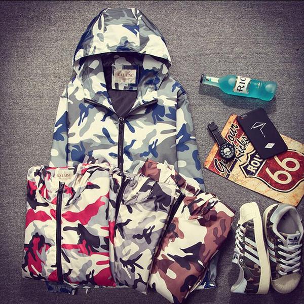 hip hop patinetas Windbreak chaqueta bomber Hombres Diseñador Camo Parejas Sudadera con capucha chaqueta abrigo Mujer Tops Causal Sudaderas chaquetas de béisbol