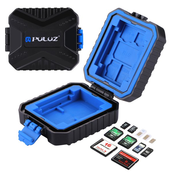 11 in1 Waterproof Camera Memory Card Case With Strap Compact Card Container Box For XQD + CF + TF Or MSD + SD +SIM