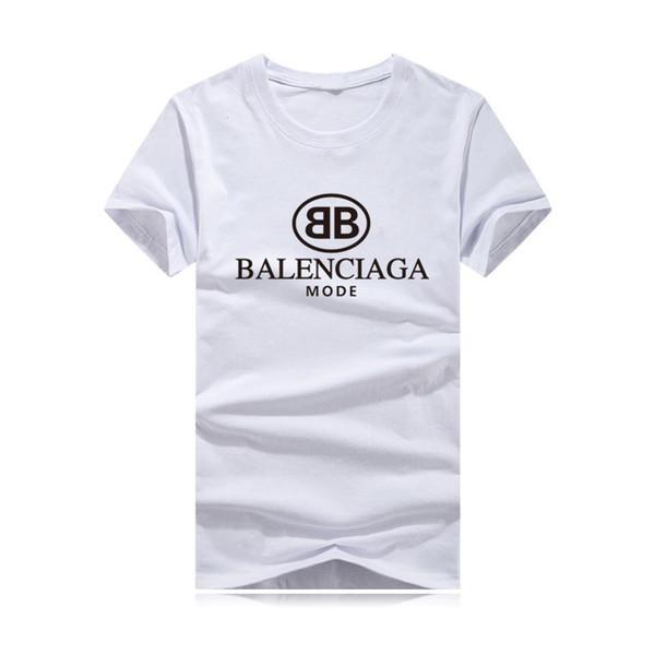 New fashion men'ssummer T-shirt brand letter printing hip hop fashion T-shirt short-sleeved anime 100% cotton T-shirt