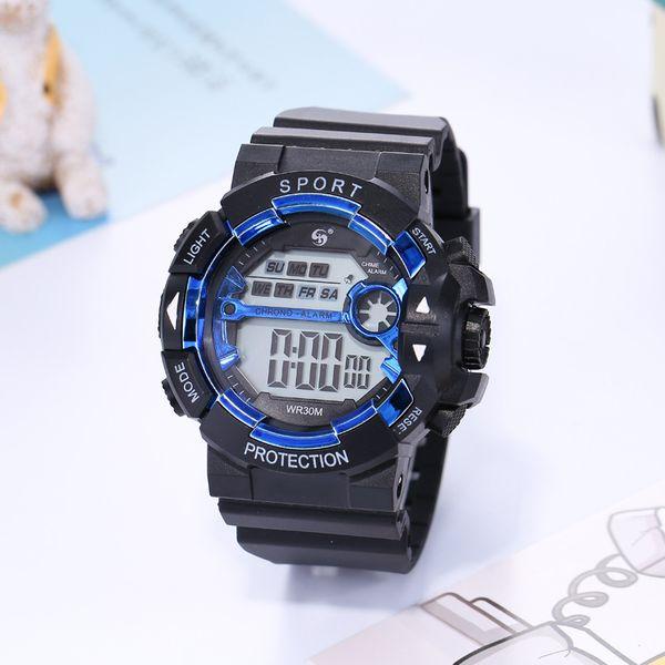 Man's Fashion, Leisure Sports, Mountaineering Waterproof Night-light Timing Watch, Student Alarm Electronic Watch