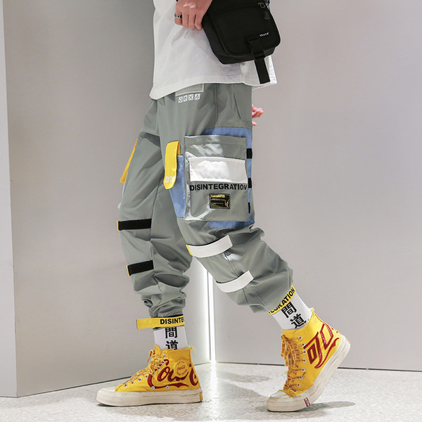 Harem Joggers Tutkular Olmadan Oynamak Boy 2019 Hip Hop Pantolon Moda Rahat Streetwear Eşofman Altı