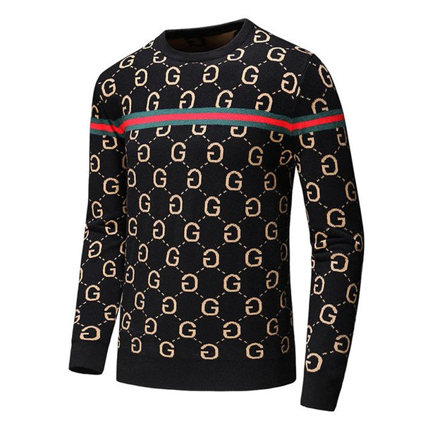 19s мужская черная полосатая вязаная шерстяная вышитая толстовка с капюшоном мужская марка женская спортивная кофта с капюшоном куртка пуловер дизайн кардиган