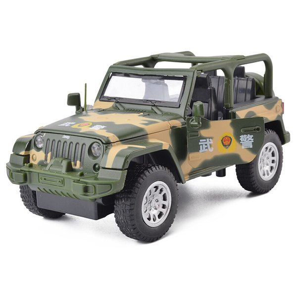1:32 Simulation Alloy Die-casting Camouflage Jeep Off-road Vehicle Model Children's Toy Car Baking Ornaments Car Model