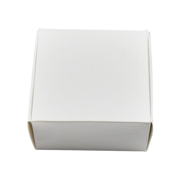 8x8x4cm White Kraft Paper Package Box for Wedding Jewelry Gift Candy Storage Soft Cardboard Packaging Handmade Soap Craft Package Boxes
