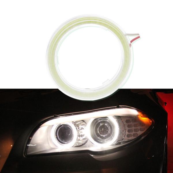 Hiyork 1pc Car Angel Eyes Led voiture Halo Anneau phares d'éclairage diurne DRL pour Auto Moto Accessoires moto 12V