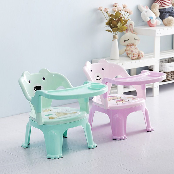 Baby stool baby back chair called dining chair with plate small bench anti-fall children eating home