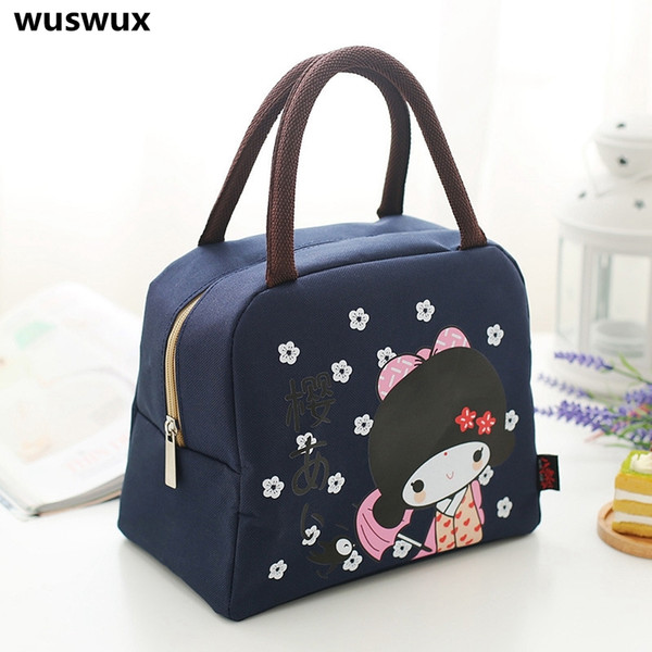 2017 New Fashion Portable Insulated canvas lunch Bag Thermal Food Picnic Bags for Women kids Men Cooler Lunch Box Tote C18112801