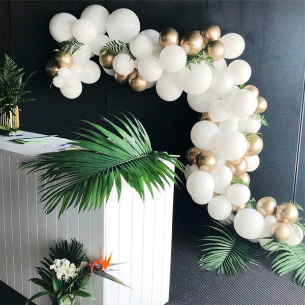 133 Adet Altın Ve Beyaz Balon Kemer Zinciri Düğün Balonlar Arch Garland Dekorasyon Kiti Doğum Günü Partisi Dekorasyon arco de globos