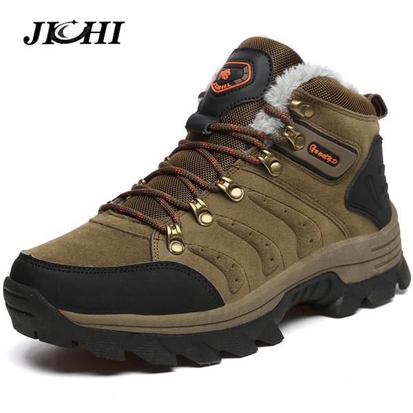 Botas de invierno para hombre Botas para la nieve de cuero Zapatos para hombre Zapatillas de deporte de talla grande para botines de invierno para hombre Amantes calientes Botas casuales