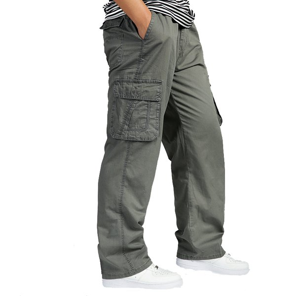 Men Cargo Pants Summer Overall Baggy Army Green Pant Workman Tactical Loose Trousers Men's Long Pants Plus Size XXXL 4XL 5XL 6XL