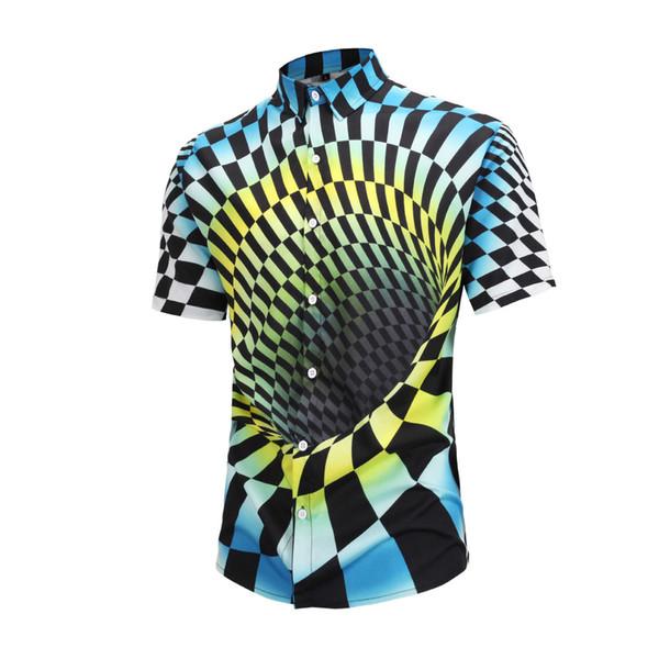 2019 new fashion short shirt brand dress 4D printing Medusa shirt short sleeve men's party club designer men's shirt