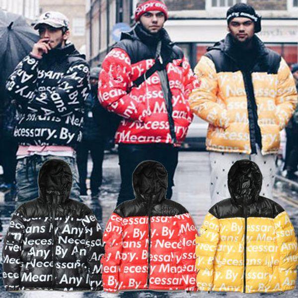 2019 Nuovi uomini invernali Mantenere caldo North Down Jacket breve cappuccio rimovibile Addensare moda gioventù bianca Anatra faccia cappotto antivento manica 8030