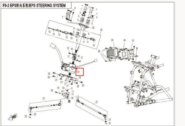 EPS DRIVER FIT PARA CF800 CFX8 NÚMERO DE PIEZAS ES 9CR6-103300-20000